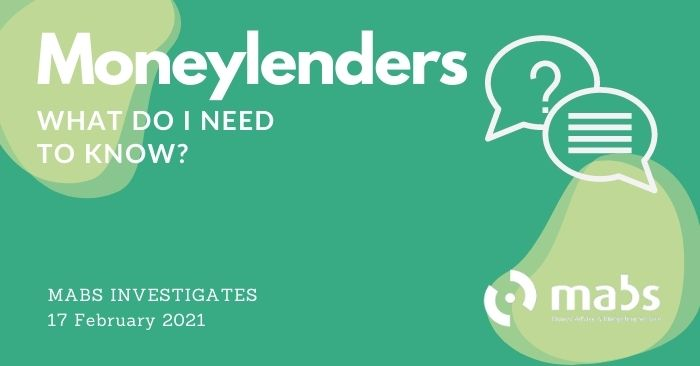 banner for post for mabs investigates moneylenders