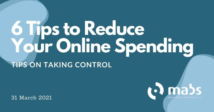 banner for post for 6 tips to reduce your online spending