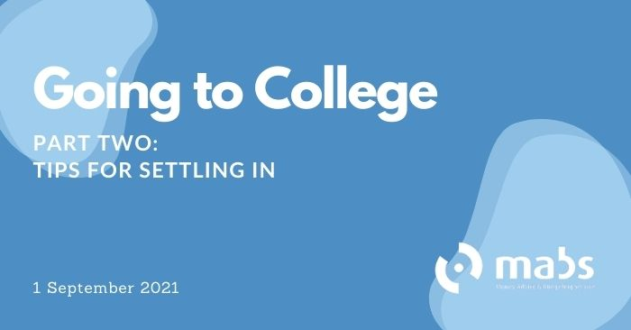 banner for post on going to college settling in