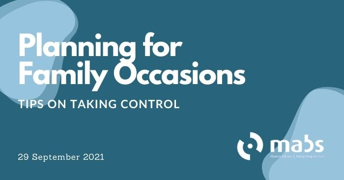 banner for post on planning for family occasions